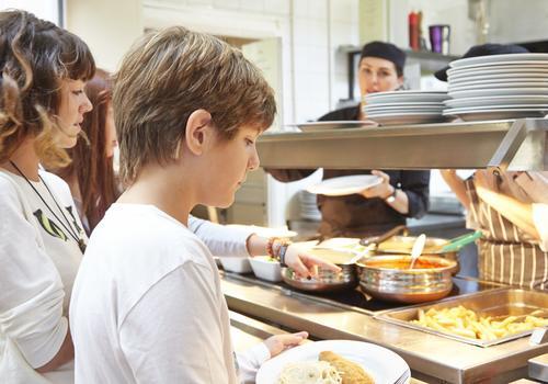 Bournemouth Collegiate School cafeteria