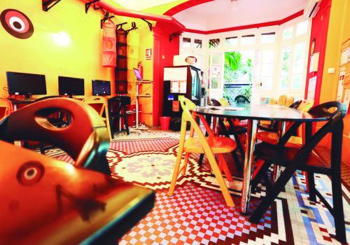 TARONJA Sala de estar para estudiantes