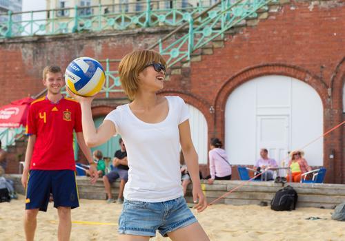 Volleyball en la playa